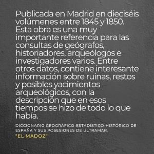 ¿Qué es el diccionario de Madoz?