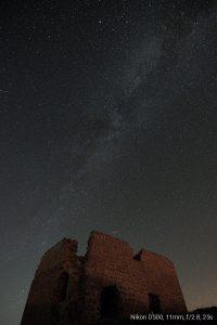 Cielo oscuro Valle del Corneja