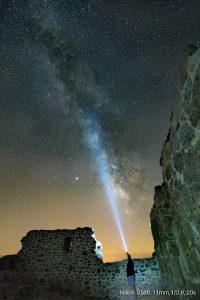 Cielo oscuro Valle del Corneja, Ávila